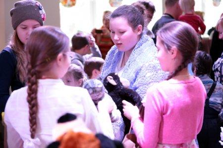 Рождественское выступление учеников воскресной школы