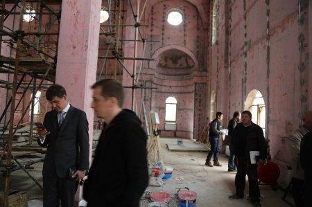 Строительство основного здания храма Преображения Господня в Коммунарке (июнь 2017)